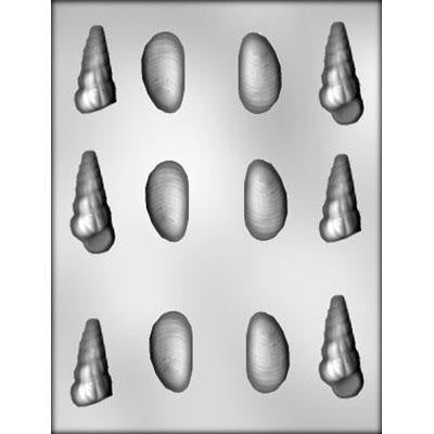 Assorted Shells 3D Chocolate Mold