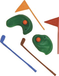 Golf Green w/ Clubs & Flag (6 Piece Set)