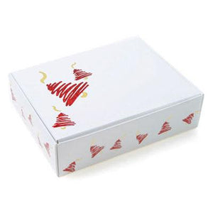 1 Pc - Candy Box - White w/ Red Bell - .25 lb