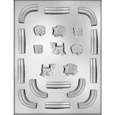 Train And Track Set Chocolate Mold