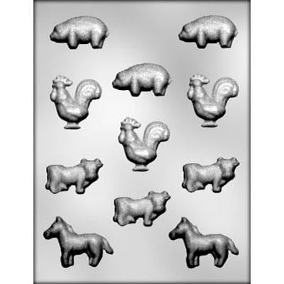 Assortment Of Farm Animals Chocolate Mold