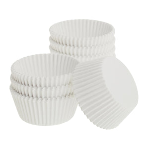 "Ateco White Dry Wax Paper Baking Cups - 1"" Diameter"