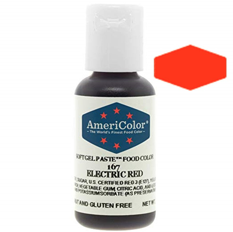 Americolor Soft Gel Paste Food Color - Electric Red