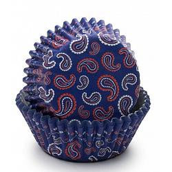 Blue Bandana Baking Cups - 50 count