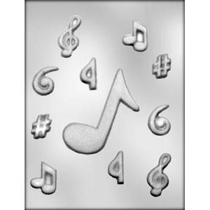 Assorted Music Notes Chocolate Mold