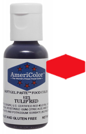 Americolor Soft Gel Paste Food Color - Tulip Red