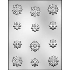 Snowflakes Chocolate Mold - 12 Cavities
