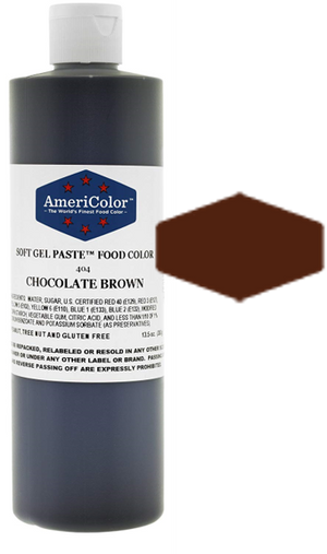 Americolor Soft Gel Paste Food Color - Chocolate Brown - 13.5oz