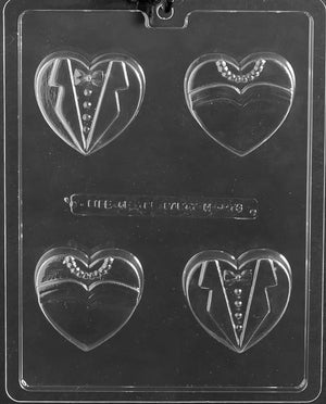 Bride Groom Heart Cookies Chocolate Mold