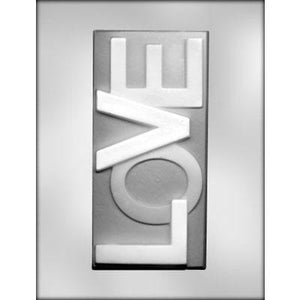 Love Candy Bar Chocolate Mold - 7.5""