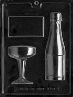 Champagne Assortment Chocolate Mold