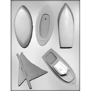 Chocolate mold for 3D boat including sailboat and motorboat