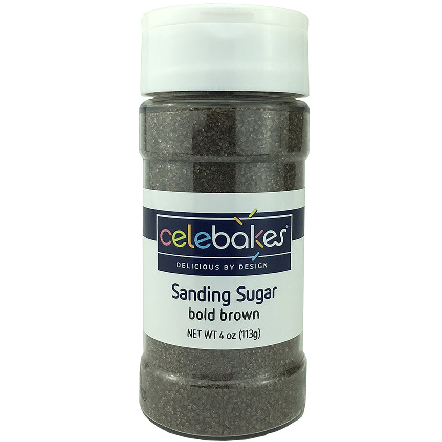 Celebakes Bold Brown Sanding Sugar