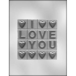 Big I Love You Chocolate Bar Mold