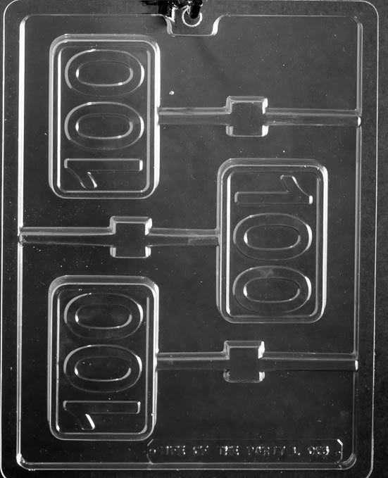 100th Anniversary/Birthday Lollipop Chocolate Mold