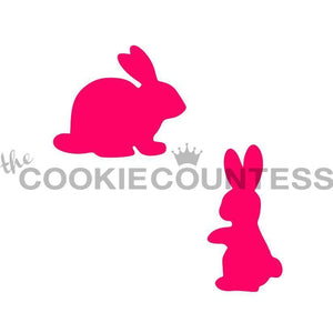 New Bunny Silhouettes Stencil- Cookie Countess