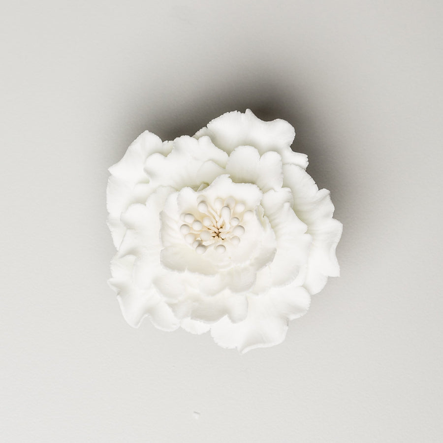 "Peony Medium Flower - 2.5""- White"