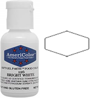Americolor Soft Gel Paste Food Color - Bright White, .75oz