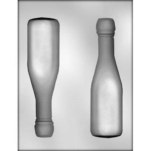Large 3D Champagne Bottle Chocolate Mold