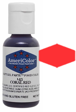 Americolor Soft Gel Paste Food Color - Coral Red