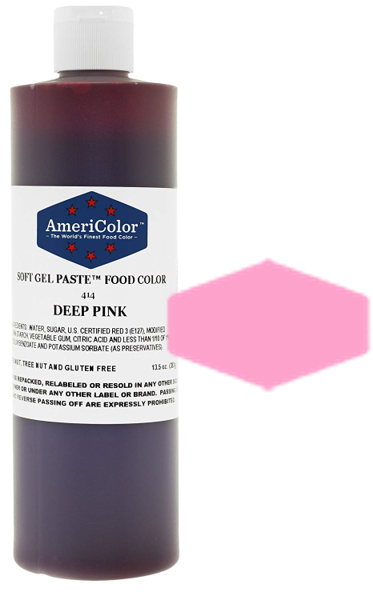 Americolor Soft Gel Paste Food Color - Deep Pink - 13.5oz