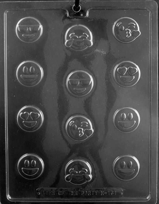 Bite Size Emojis Chocolate Mold