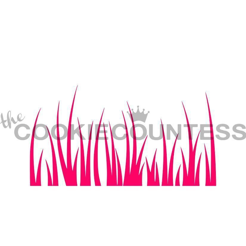 Tall Grass Stencil- Cookie Countess
