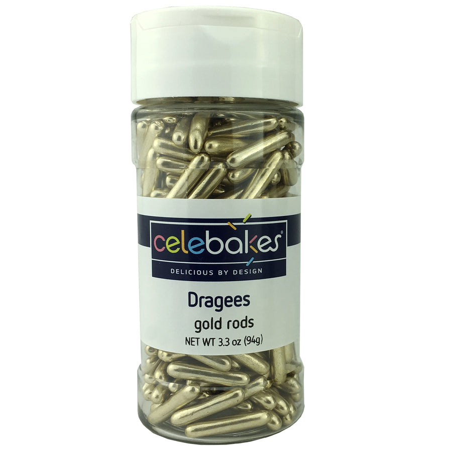 Celebakes Dragees Gold Rods