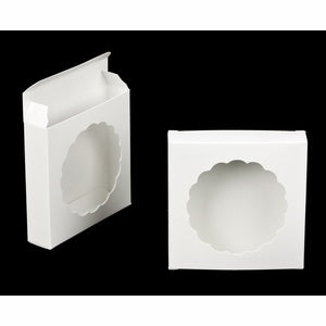 Single Cookie Box - White with Window