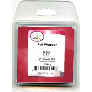 "Red Foil Wrapper - 3""x3"" - 125/Package"