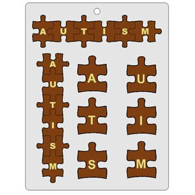 Autism Puzzle Piece Chocolate Mold