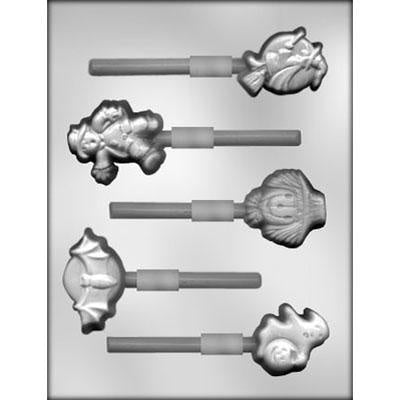 Halloween Shapes Lollipop Chocolate Mold