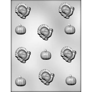 Turkey and Pumpkin Chocolate Mold