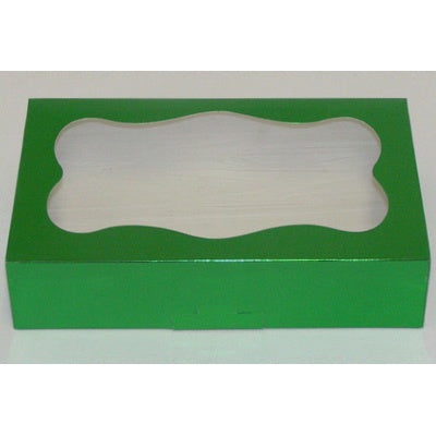 Foil Cookie Box - Green with Window