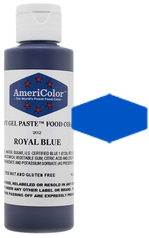 Americolor Soft Gel Paste Food Color - Royal Blue - 4.5oz
