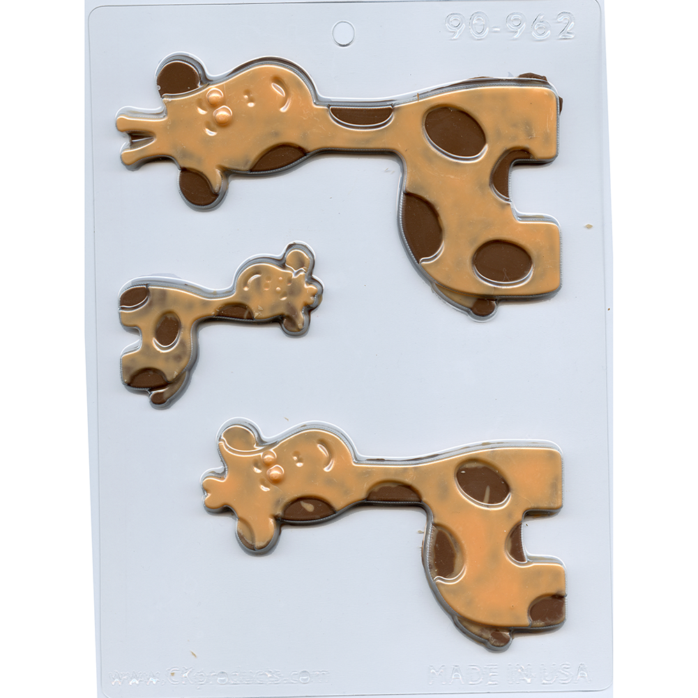 Giraffe Family Chocolate Mold