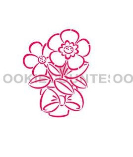 Flower in Pot PYO Stencil- Cookie Countess