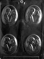 Bride & Groom Medallion Chocolate Mold