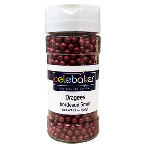 Celebakes Dragees - Bordeaux 5MM
