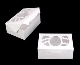 10x7 Cupcake Box with Easter Egg Cutout - 10x7x4