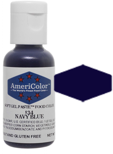 Americolor Soft Gel Paste Food Color - Navy Blue, .75oz