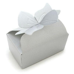 1 Pc - Small Silver Candy Box with Bow