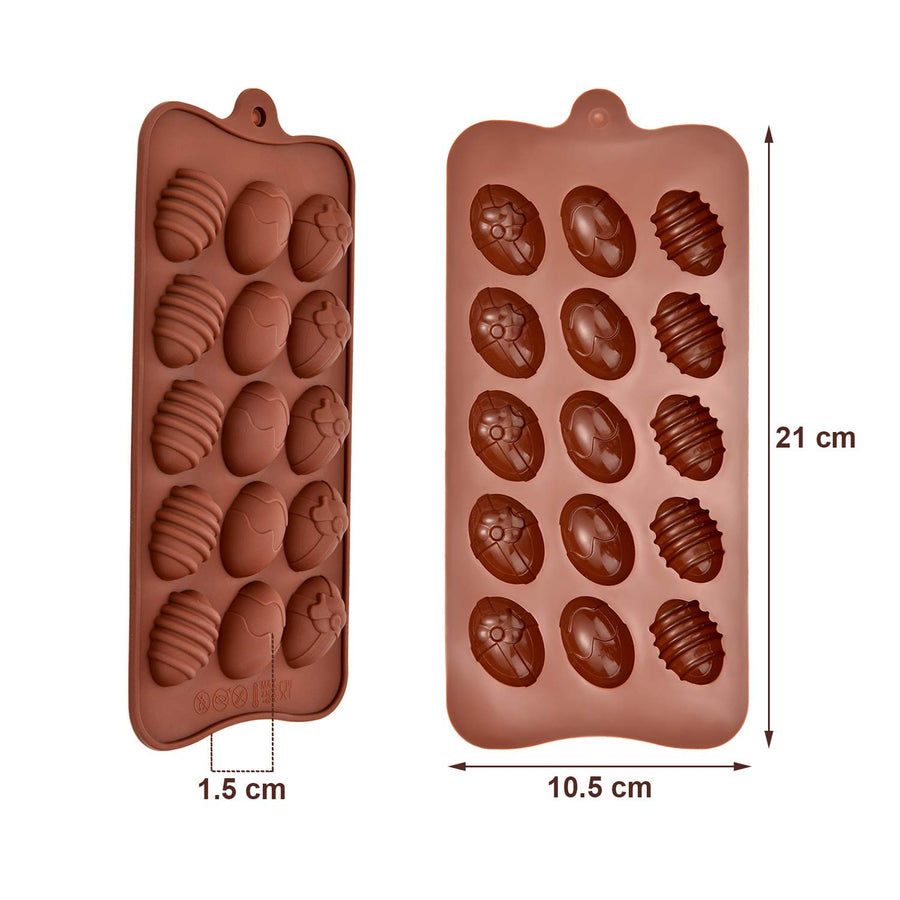 3D Silicone Baking Mold - Easter Eggs - 15 Cavity
