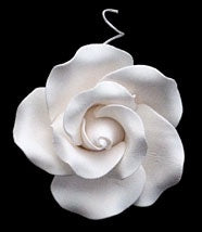 Tea Rose Single w/wire - White- Large