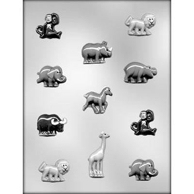 Zoo Animal Assortment Chocolate Mold