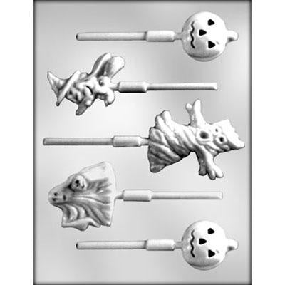 5pc Halloween Characters Lollipop Chocolate Mold
