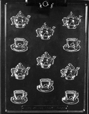 Small Tea Pots And Cups Chocolate Mold