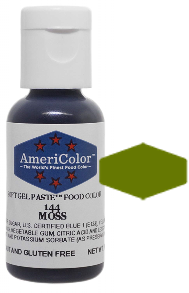 Americolor Soft Gel Paste Food Color - Moss