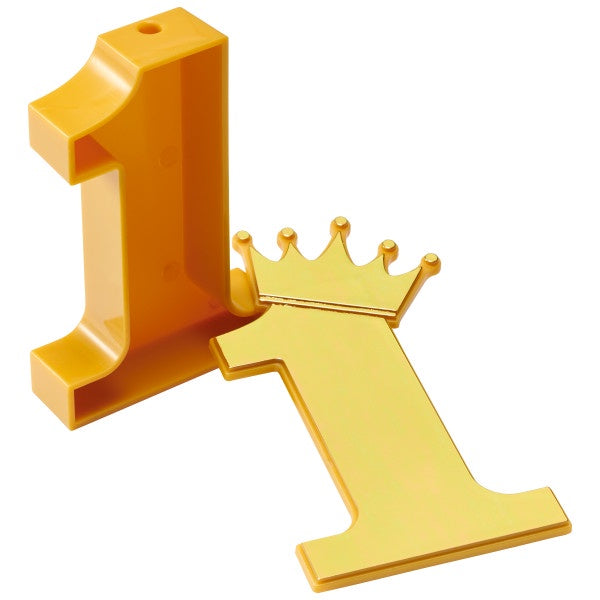 Number 1 With Crown- First Birthday Decoset