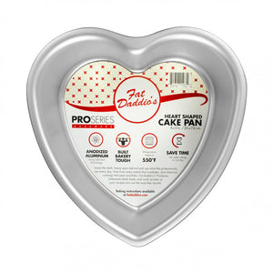 Fat Daddio's Heart Cake Pan - 8x3